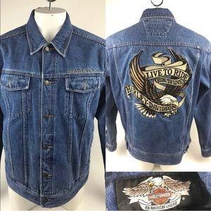 Harley Davidson Live to Ride Jean Biker Jacket